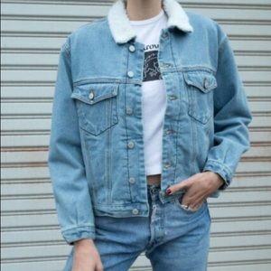 Brandy Melville Fur Lined Denim Jacket